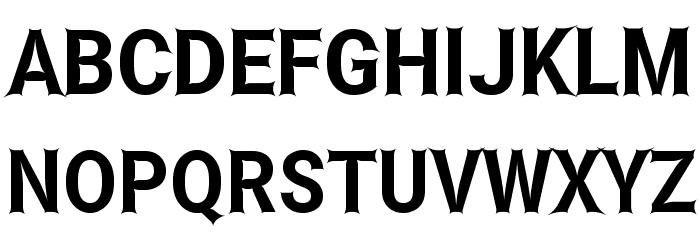 Asimov Edge Narrow Font UPPERCASE