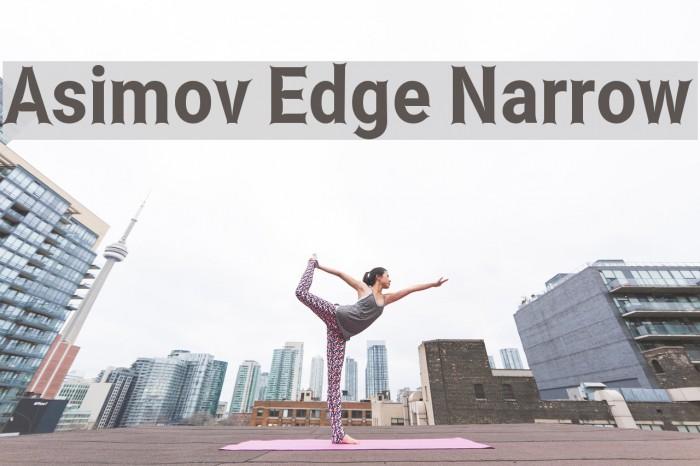 Asimov Edge Narrow Font examples