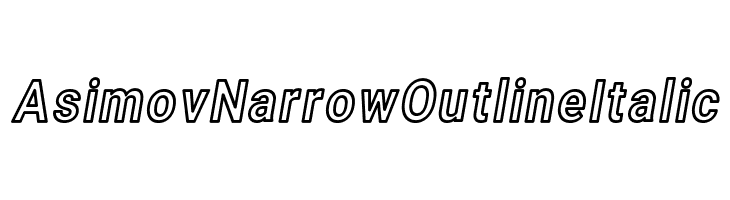 Asimov Narrow Outline Italic  Free Fonts Download