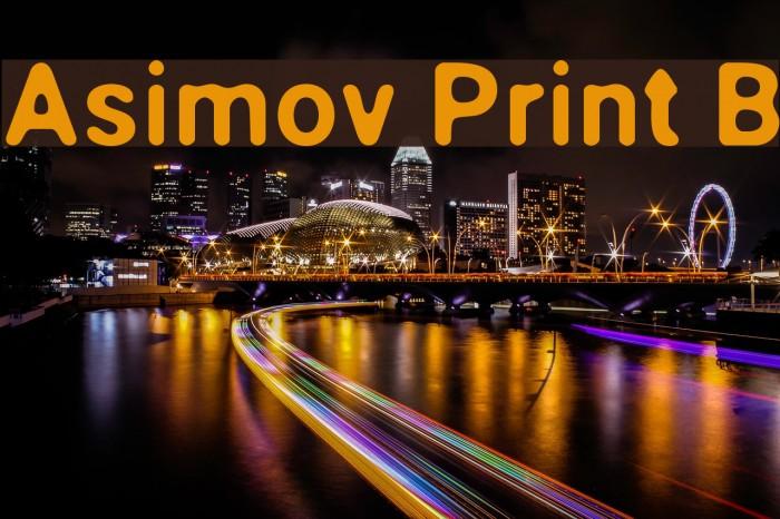 Asimov Print B Fonte examples