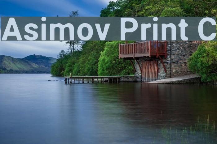 Asimov Print C Шрифта examples