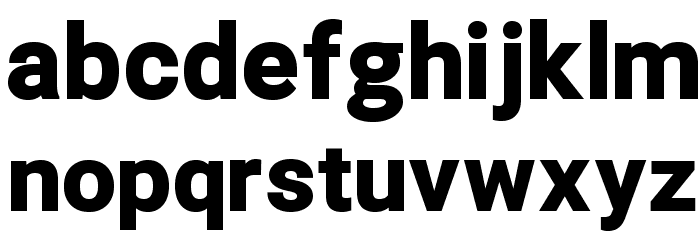 Asimov Pro Ultrablack Font LOWERCASE