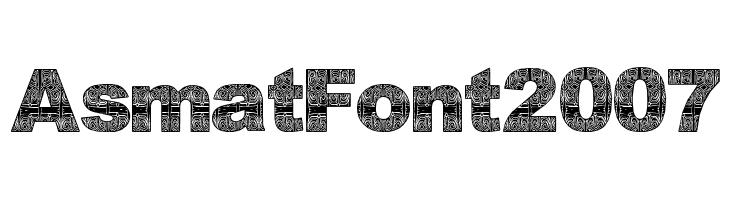 AsmatFont2007  नि: शुल्क फ़ॉन्ट्स डाउनलोड