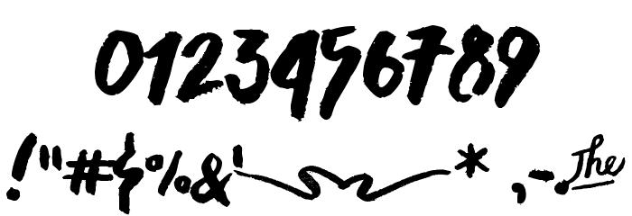 Asphalts Brush Font OTHER CHARS