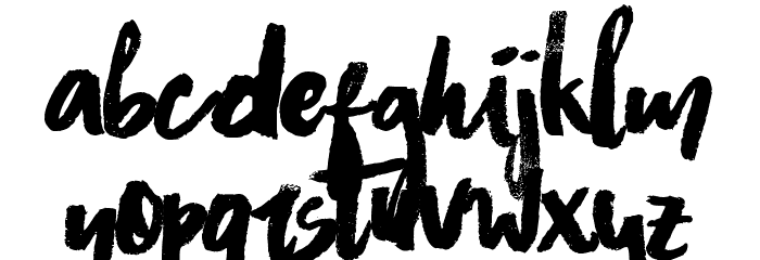 Asphalts Brush Font UPPERCASE