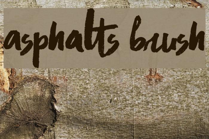 Asphalts Brush Font examples