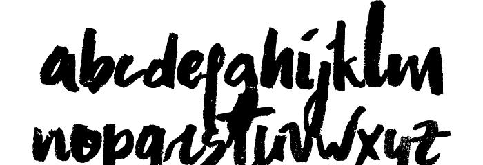 Asphalts Brush Font LOWERCASE