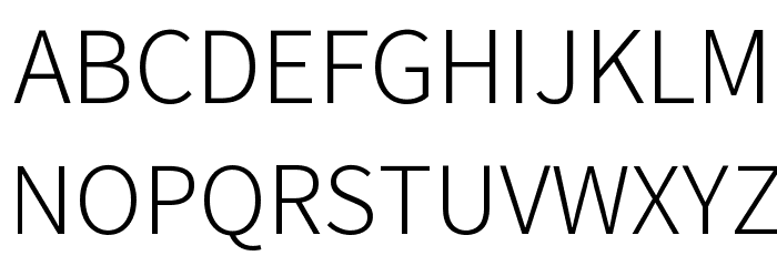 Assistant Light Font UPPERCASE