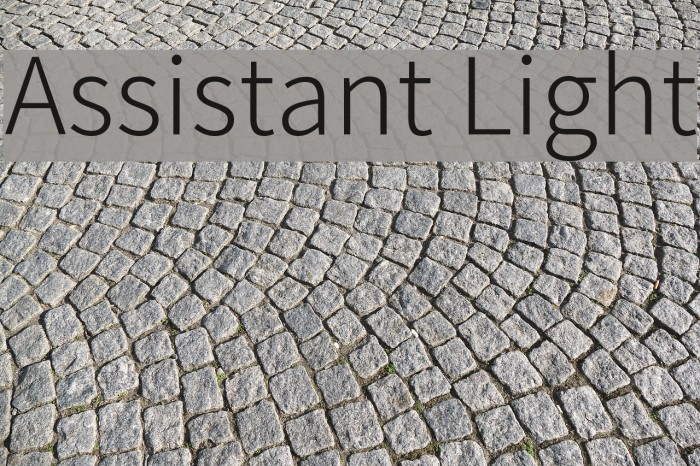 Assistant Light Font examples