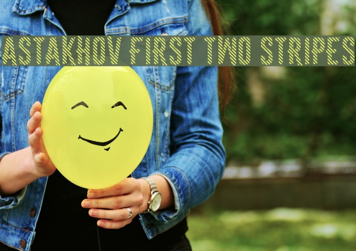 Astakhov First Two Stripes फ़ॉन्ट examples
