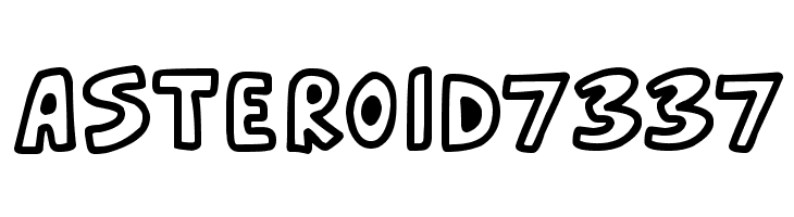 Asteroid 7337  Free Fonts Download