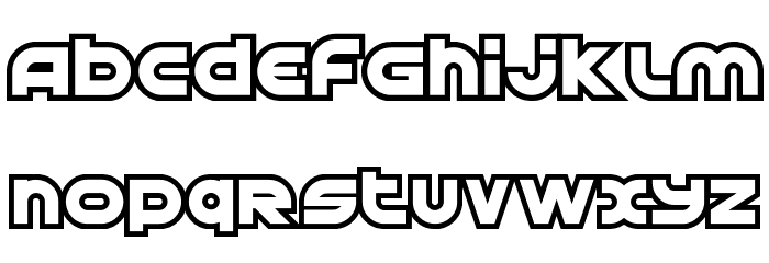 Astral Delight Upright Font UPPERCASE