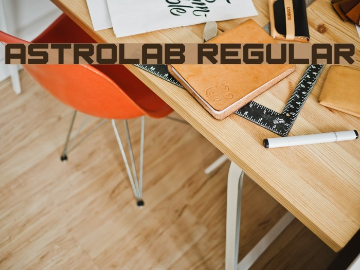 Astrolab Regular Font Examples