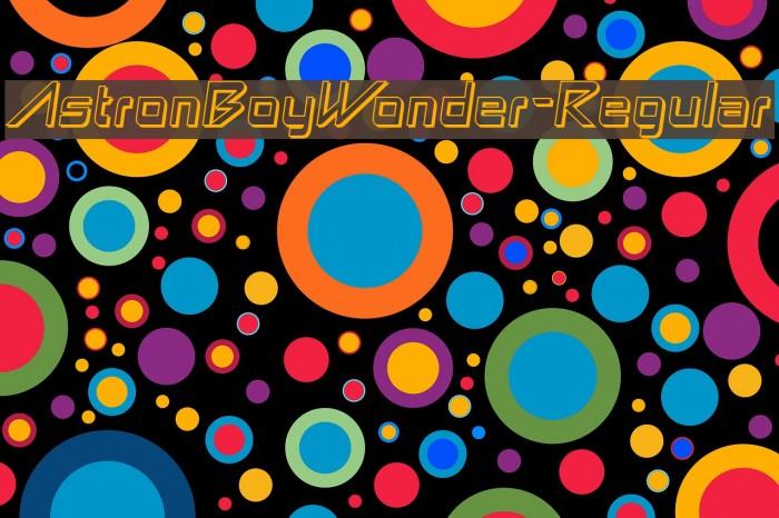 AstronBoyWonder-Regular Font examples