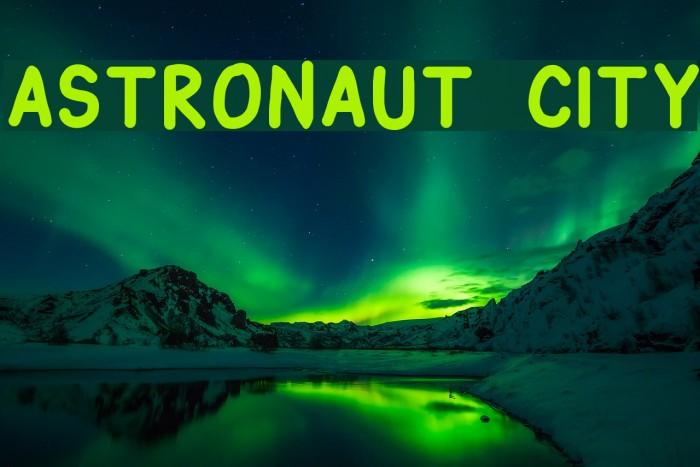 Astronaut City Шрифта examples