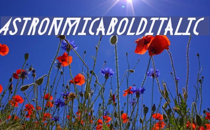 AstronmicaBoldItalic Fonte examples