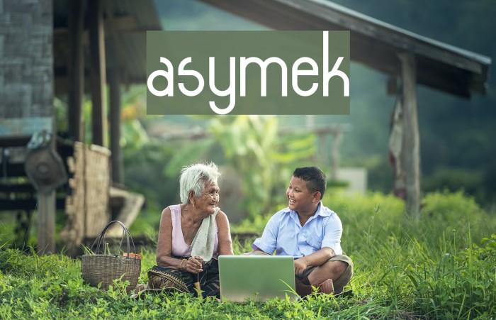 asymek Font examples