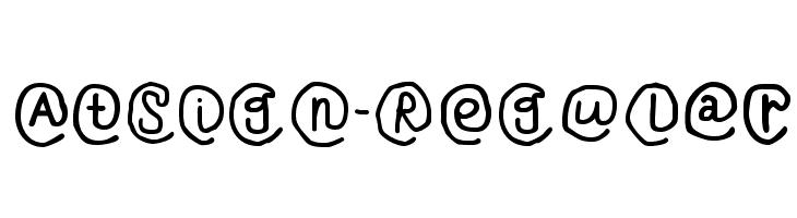 AtSign-Regular  Скачать бесплатные шрифты