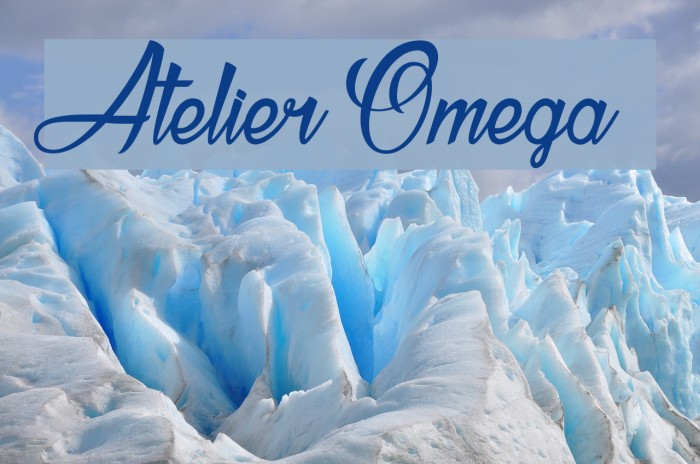 Atelier Omega  Шрифта examples