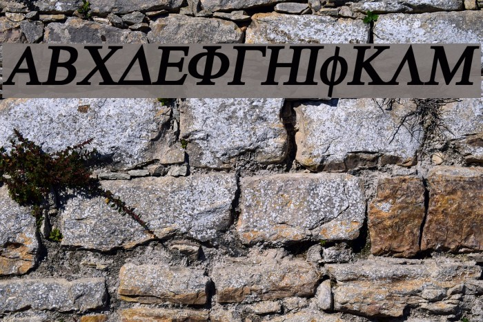 Atene-BoldItalic Fonte examples