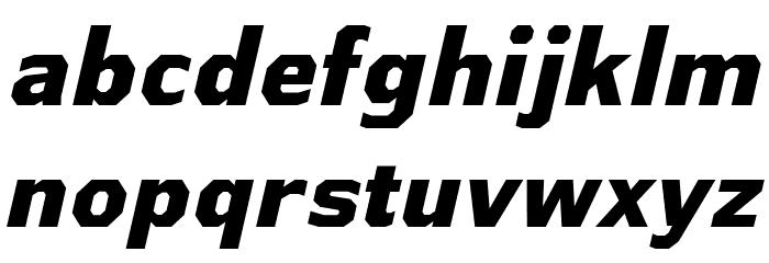 AthabascaEb-Italic Font Litere mici