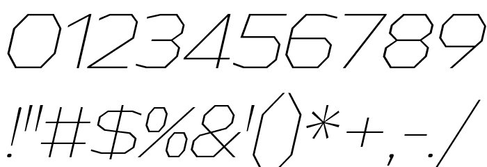AthabascaEl-Italic Font Alte caractere