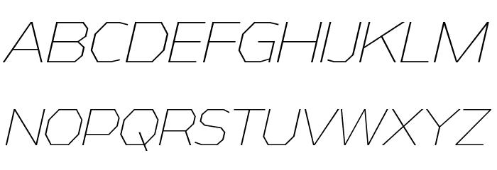 AthabascaEl-Italic Font Litere mari