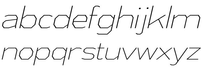 AthabascaEl-Italic Font Litere mici