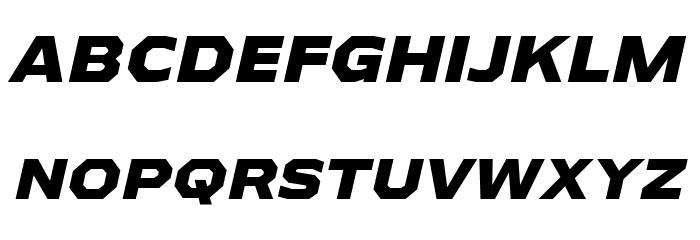 AthabascaExEb-Italic Font Litere mari