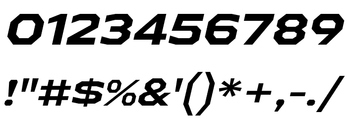 AthabascaExRg-BoldItalic Font OTHER CHARS
