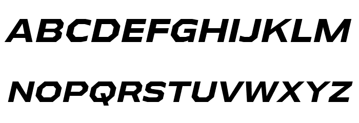 AthabascaExRg-BoldItalic Font UPPERCASE