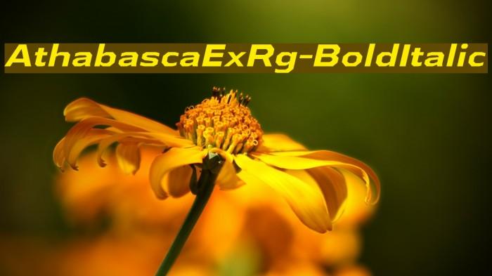 AthabascaExRg-BoldItalic Font examples