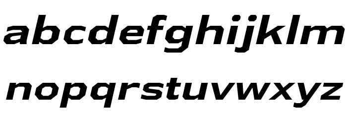 AthabascaExRg-BoldItalic Font LOWERCASE
