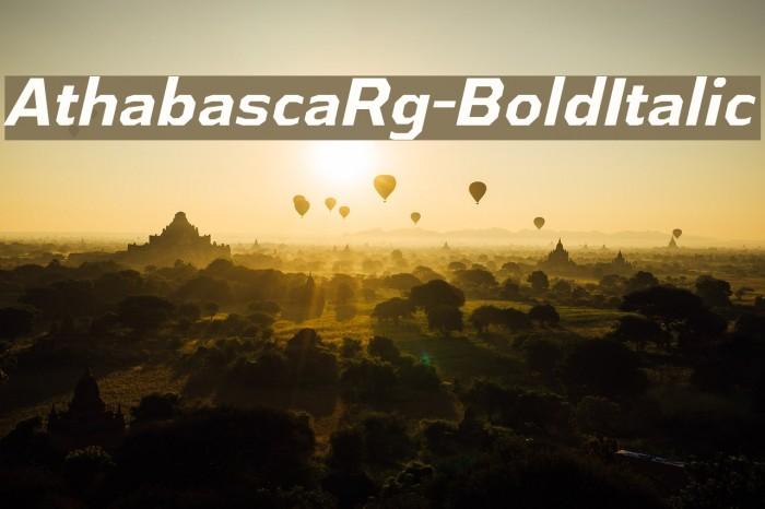 AthabascaRg-BoldItalic Fonte examples