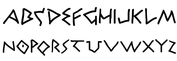 Athena Handwritten Fonte MAIÚSCULAS
