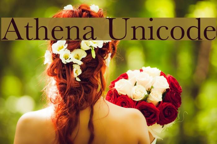 Athena Unicode Шрифта examples