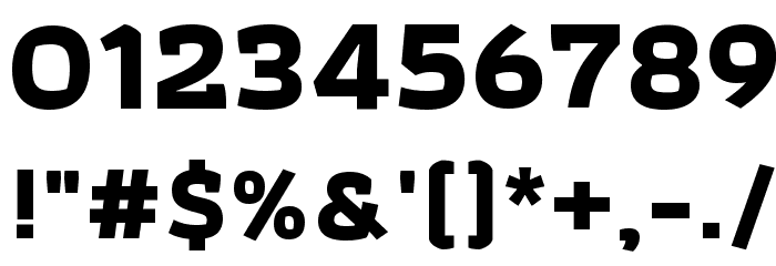 Athiti Bold Font OTHER CHARS