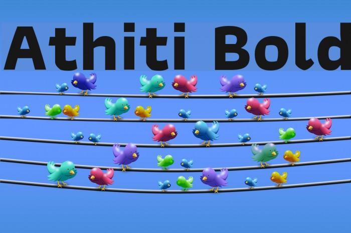Athiti Bold Font examples