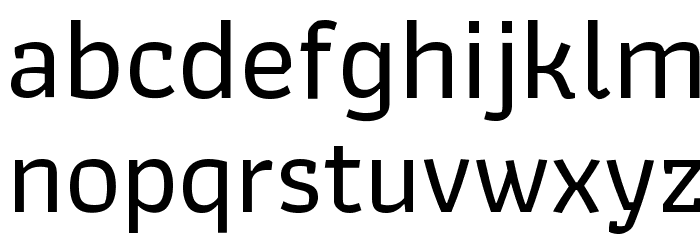 Athiti Medium Font LOWERCASE