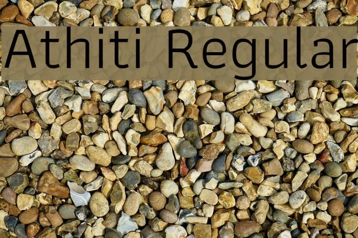 Athiti Regular Font examples