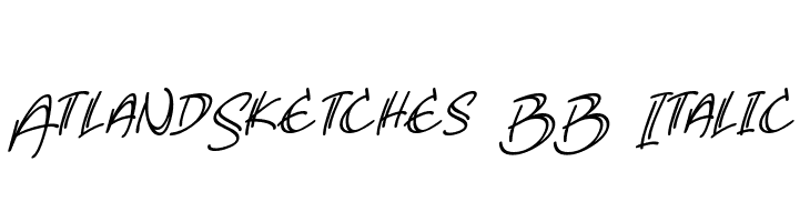 AtlandSketches BB Italic  Free Fonts Download