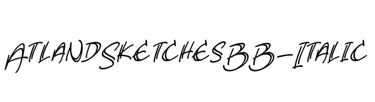 AtlandSketchesBB-Italic  Free Fonts Download