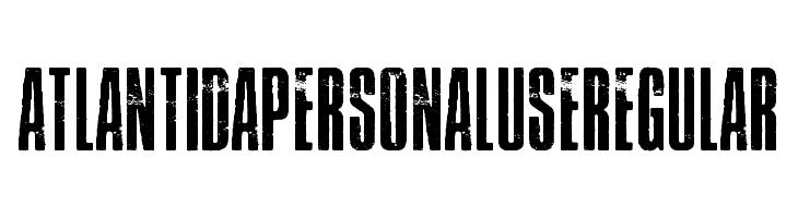 Atlantida PERSONAL USE Regular  Free Fonts Download