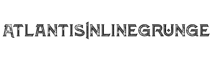 Atlantis Inline Grunge  baixar fontes gratis