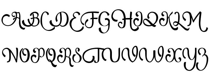 AtlantisHeartFree Schriftart Groß