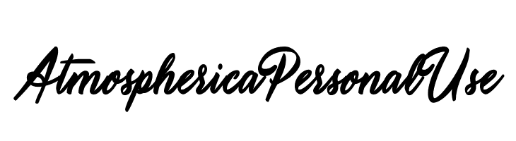Atmospherica Personal Use   Free Fonts Download