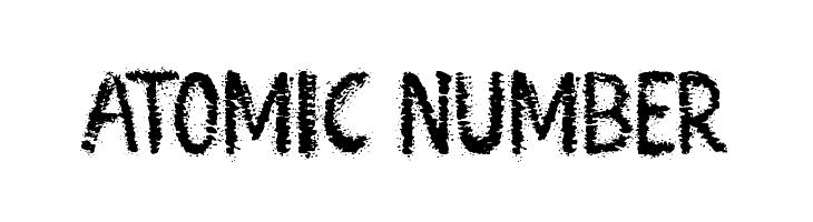 Atomic Number  Fuentes Gratis Descargar