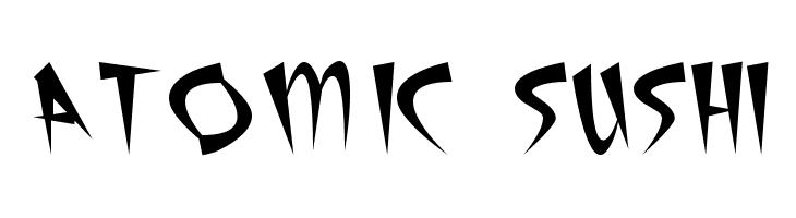 Atomic Sushi  Free Fonts Download