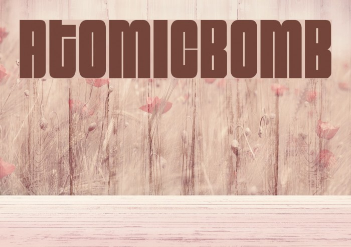 AtomicBomb Font examples