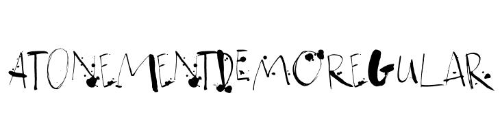 Atonement DEMO Regular  font caratteri gratis